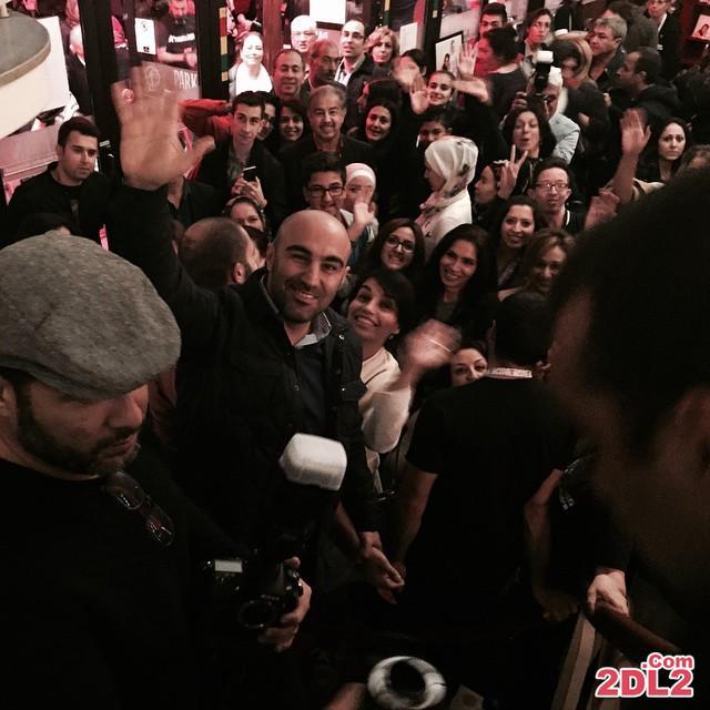 عکس محسن تنابنده در روز نمایش گینس در استکهلم سوئد