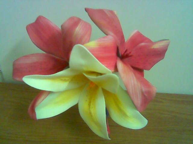 آموزش گل لیلیوم بلندر