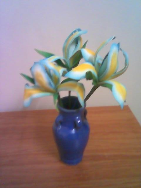 آموزش گل بلندر آبی