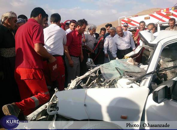 تصادف در محور پیرانشهر به نقده 4 کشته و زخمی برجا ی گذاشت