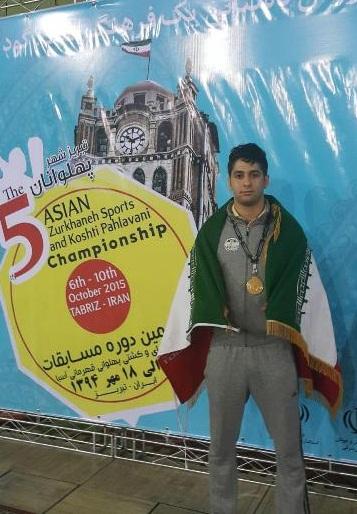 ورزشکار کردستانی طلای مسابقات آسیایی پهلوانی و زورخانهای را بر گردن آویخت