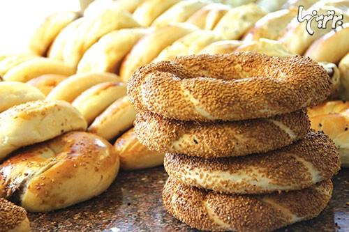 نان خانگی سیمیت در خیابان های استانبول