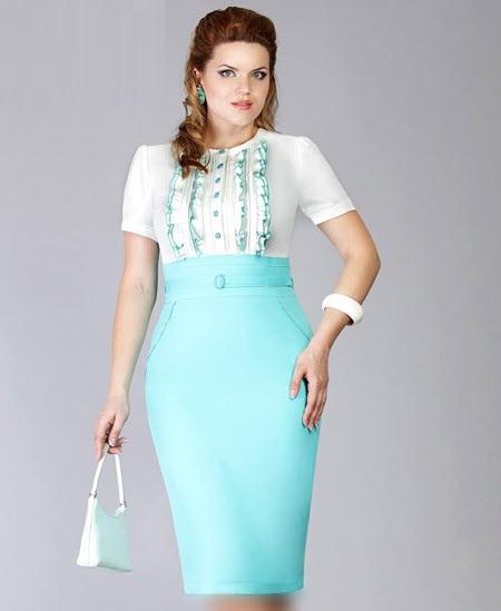 مدل لباس و دامن مجلسی برای زنانه نسبتا چاق 2016