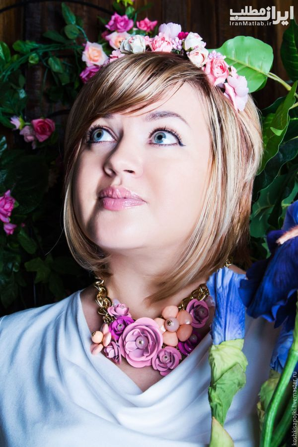 تل و گل سر های زیبا برای موی عروس 94
