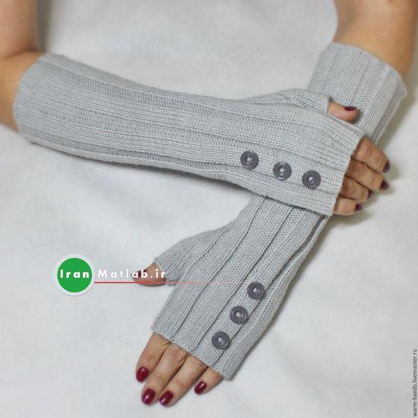 مدل جدید دستکش و ساق دست بافتنی دخترانه 94