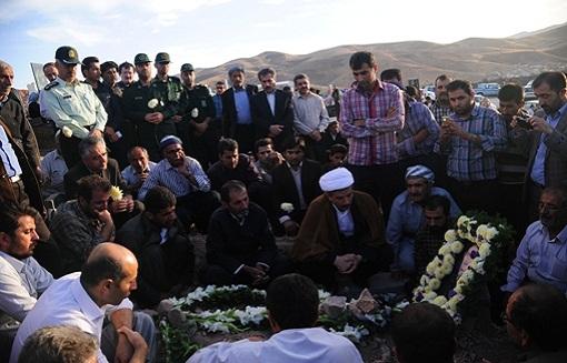 پیکر سه جان باخته دیگر فاجعه منا در مهاباد تشییع شد