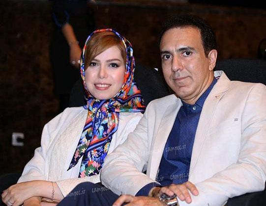 عکس جالب مزدک میرزایی در کنار همسرش