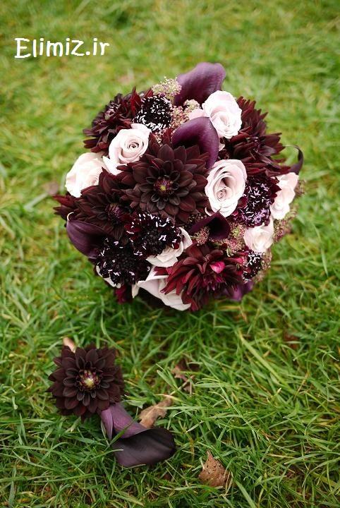 مدل دسته گل عروس بنفش