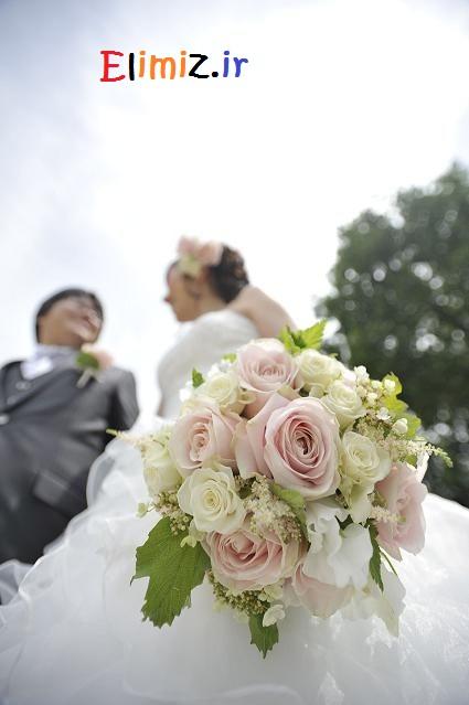 مدل دسته گل با عروس