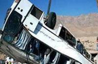 سرهنگ جهانگیری: واژگونی خونین اتوبوس ولوو در جاده لغزنده هراز