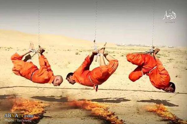 زنده سوزاندن مردان مزلوم عراقی به دست داعش