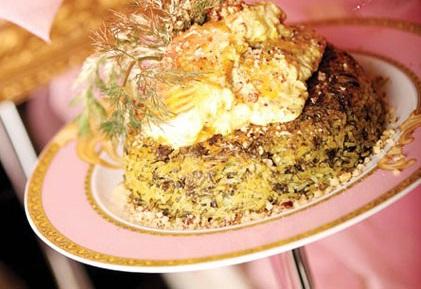مواد لازم برای تهیه کته تره با ماهی تیلاپیا