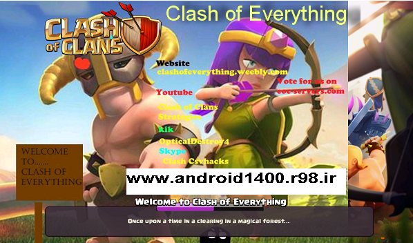 دانلودرایگان نسخه مود شده کلش اف کلنز (Clash of Everything)