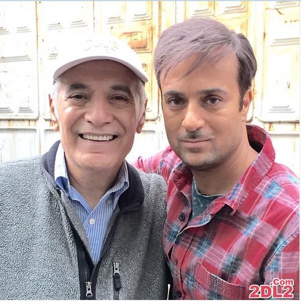 احمد مهران فر با گریمی جدید در کنار محمود کلاری