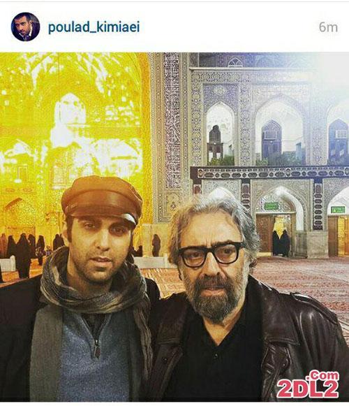 عکسی از  مسعود کیمیایی و پسرش در مشهد