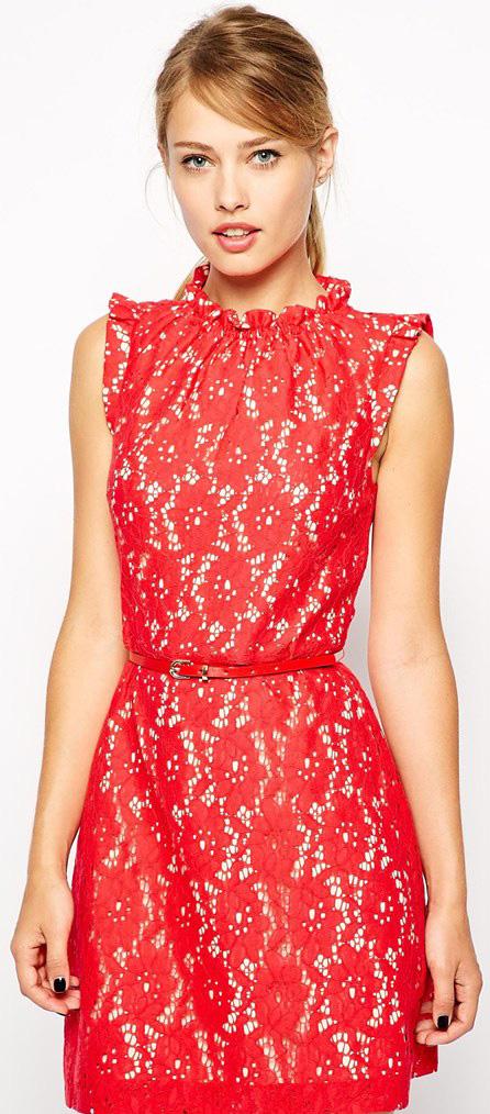 لباس مجلسی رنگ قرمز و صورتی دخترانه خارجی 2016