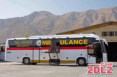 اتوبوس آمبولانس های ایرانی آماده حرکت به سوی عراق