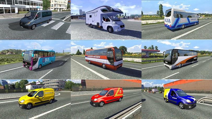 دانلود مد ماشین های سواری جدید برای ترافیک جاده ها در یورو تراک