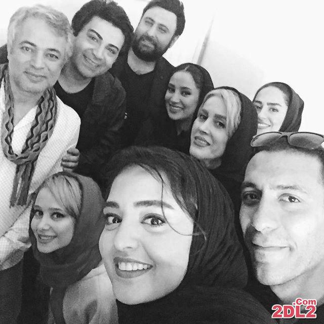سلفی جدید نرگس محمدی با بازیگران