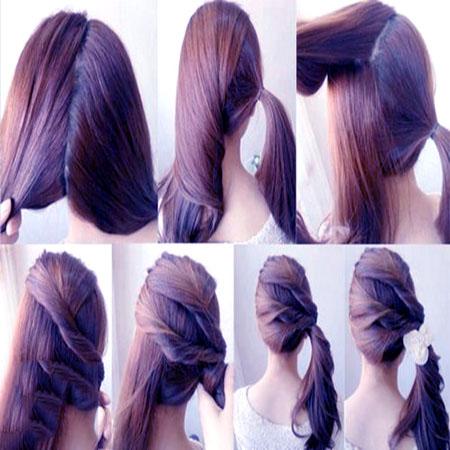 آموزش آرایش موی دخترانه ساده