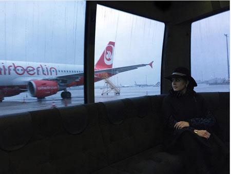 الناز شاکردوست در فرودگاه فرنگ + عکس
