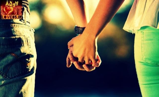 دلنوشته یک دست که قفل شود در دست من