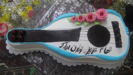 عکس کیک تولد برای اسم الهام