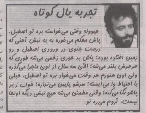 تجربه یال کوتاه...(محمدرضا باقرپور)