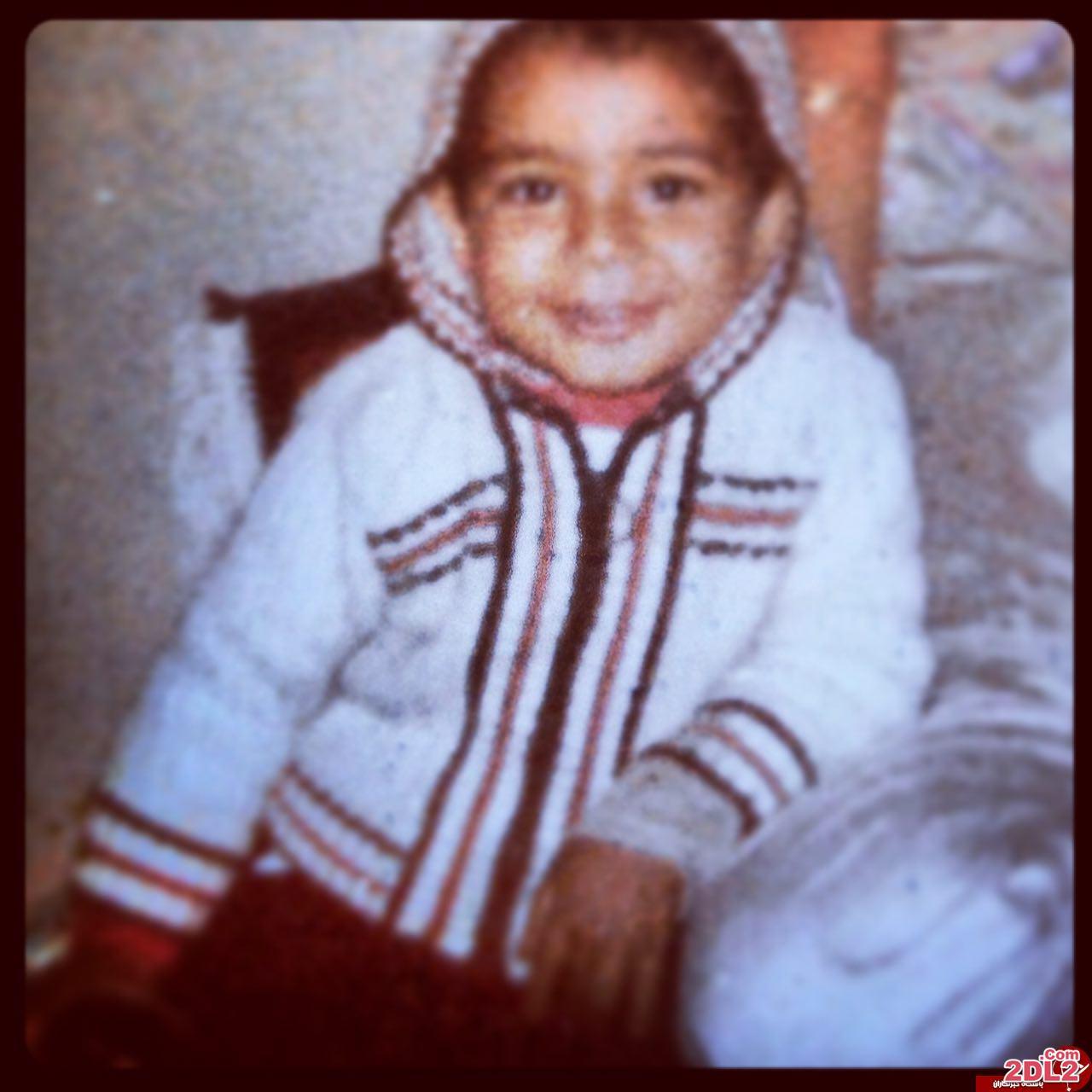 عکس دیدنی از کودکی رضا صادقی