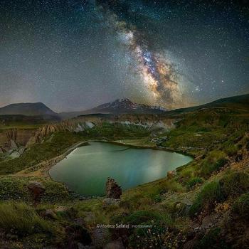 کهکشان راه شیری بر فراز قله سبلان+عکس