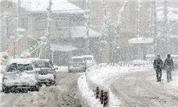 بارش برف هوای اردبیل را سردتر میکند