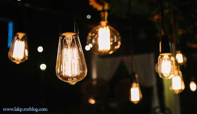 انواع لامپ های روشنایی در نورپردازی
