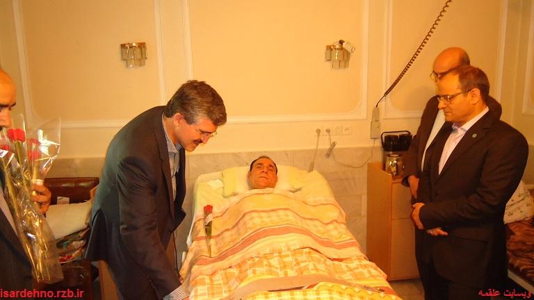 دیدار مدیر کل بنیاد شهید تهران بزرگ از جانباز شهید سهراب نریمانی