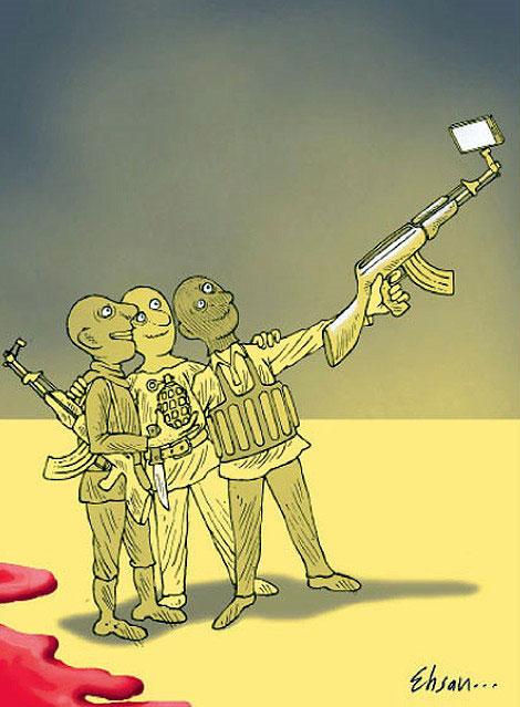 کاریکاتور/ جدیدترین سلفی داعش!