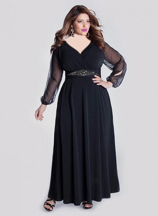 مدل های لباس مجلسی مخصوص زنان چاق و درشت اندام