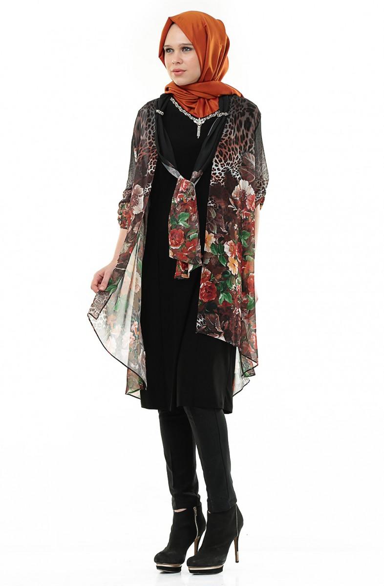 مدل لباس مجلسی با حجاب زنانه