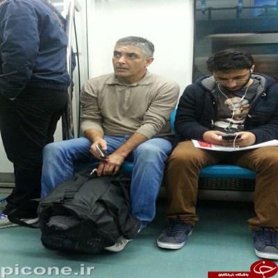 جورج کلونی در مترو های ایران + عکس
