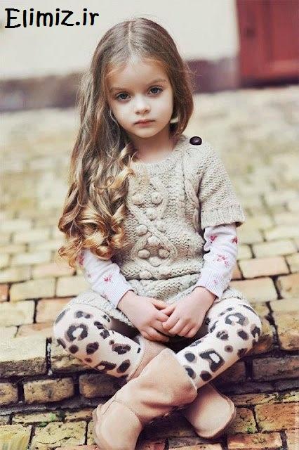 چشمان زیبای دختر بچه