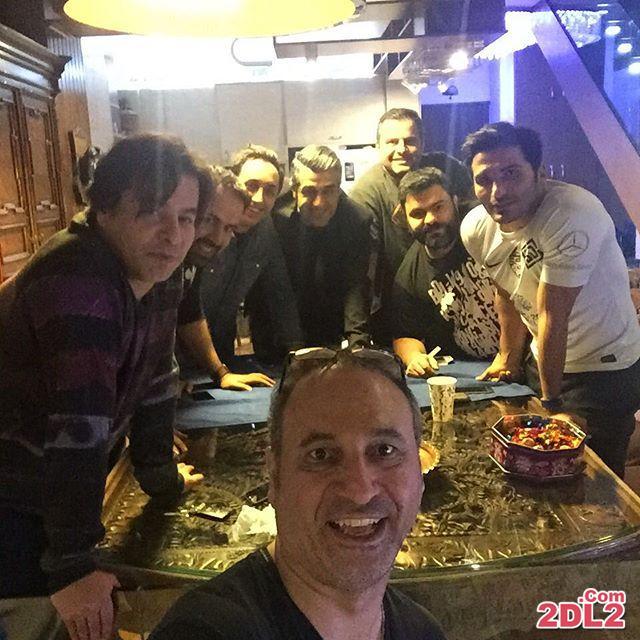 عکس سلفی حمید فرخ نژاد با بازیگران معروف