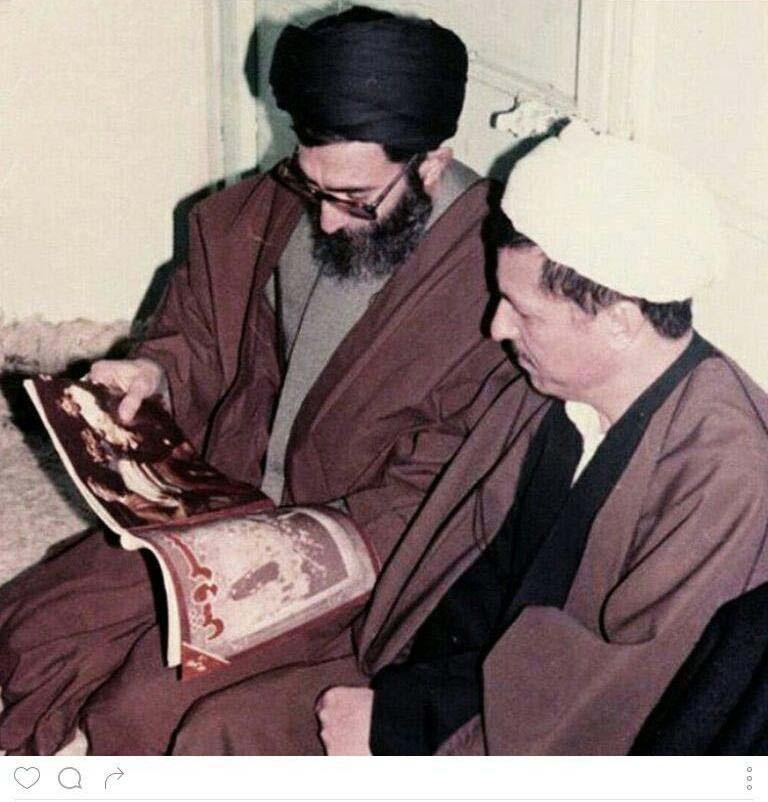 عکس کمتر دیده شده از رهبری و آیت الله هاشمی رفسنجانی