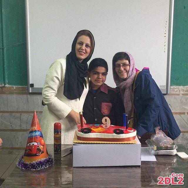 عکس سوسن پرور در جشن تولد خواهرزاده اش