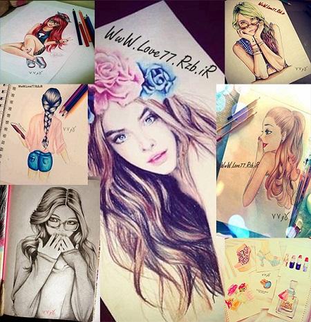 نقاشی های دخترونه,نقاشی,جدید,عکس های دخترونه,نقاشی دخترونه