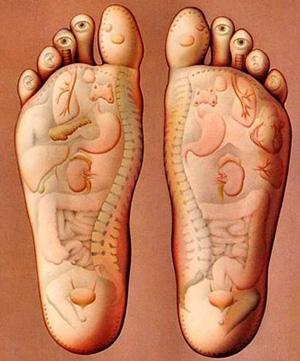 ماساژ کف پا برای افزایش قد