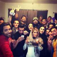 عکسهای نرگس محمدی در جشن تولد شکیبا احدی زاده