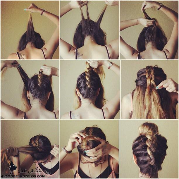 http://aksmodel.rozblog.com - آموزش بستن و بافت مو دخترانه