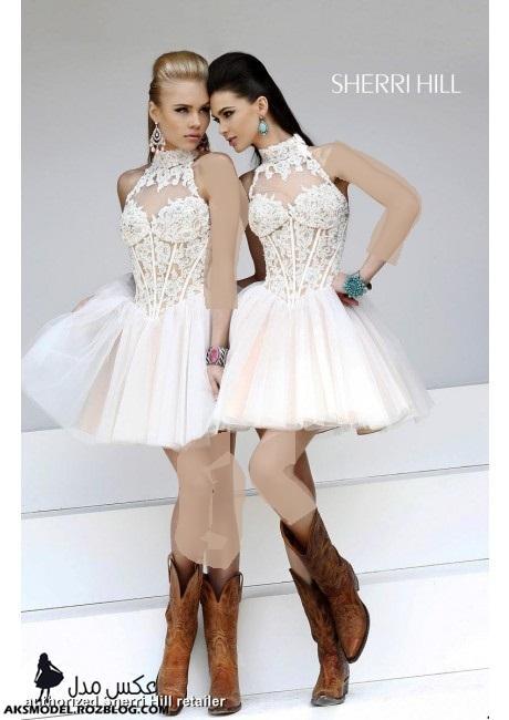 http://aksmodel.rozblog.com - مدل جدید لباس کوتاه مجلسی گیپور