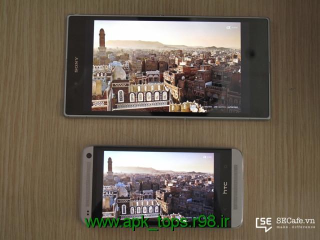 مقایسهی صفحه نمایش Xperia Z Ultra با HTC One