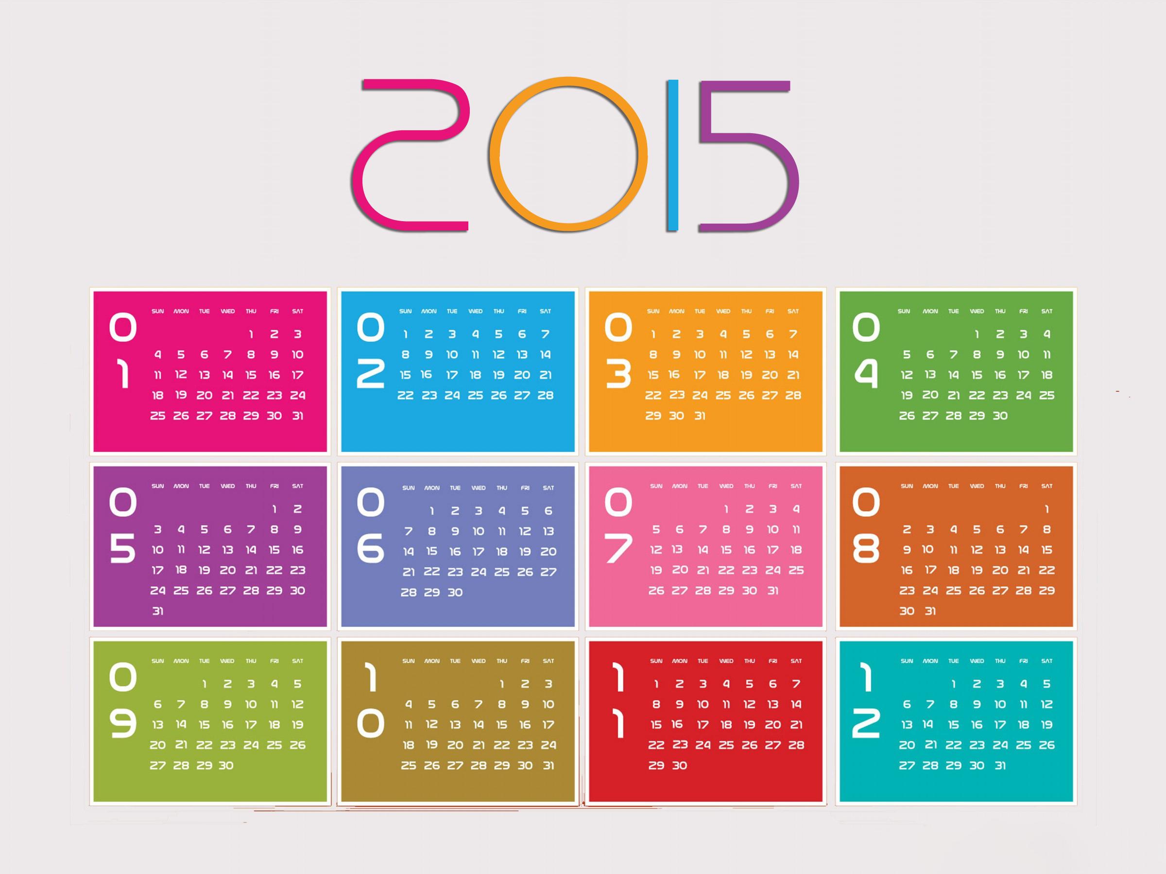 3 تقویم زیبای سال 2015
