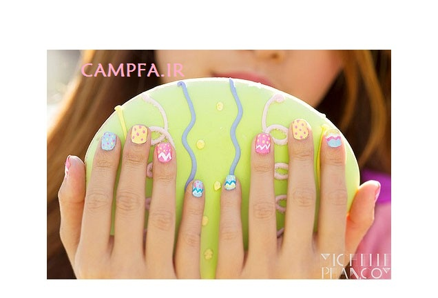 زیباترین نقش های هنری به روی ناخن ها 2013  www.campfa.ir