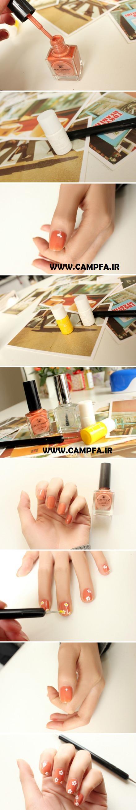 آموزش تصویری 10 مدل لاک ناخن جدید www.campfa.ir
